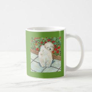Havanese n Poppies Art Print Gifts & Cards Coffee Mug