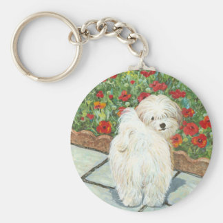 Havanese n Poppies Christmas Gifts and Cards Key Ring