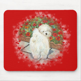 Havanese n Poppies Valentine Mouse Mat