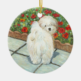 Havanese & Poppy Christmas Ornament