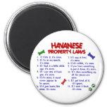 HAVANESE Property Laws 2 6 Cm Round Magnet