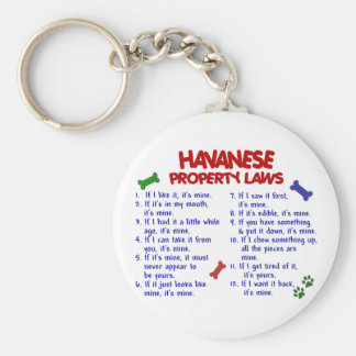 HAVANESE Property Laws 2 Key Ring