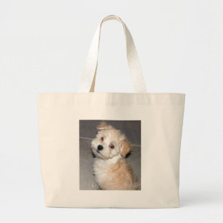 Havanese Puppy Large Tote Bag