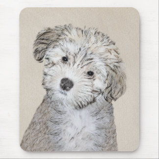Havanese Puppy Painting - Cute Original Dog Art Mouse Mat