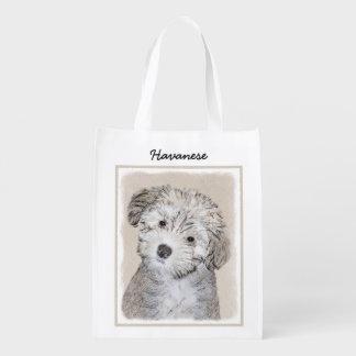Havanese Puppy Reusable Grocery Bag