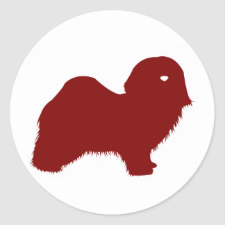 Havanese (Red) Classic Round Sticker
