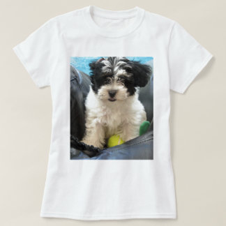 Havanese Rescue Puppy Black White T-Shirt