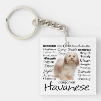 Havanese Traits Keychain