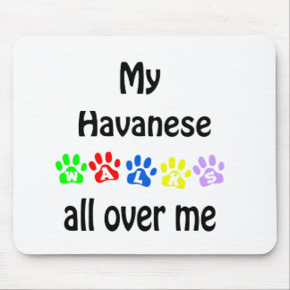 Havanese Walks Design Mouse Mat