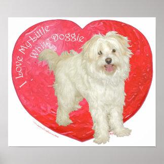 Havanese / Westie Mix Valentine's Day Print