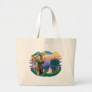 Havanese (white) large tote bag