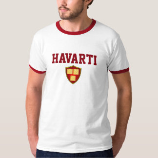 Havarti Cheese Lovers University Spoof College Tee