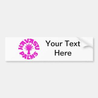 Havasu Palms Logo Pink Bumper Sticker