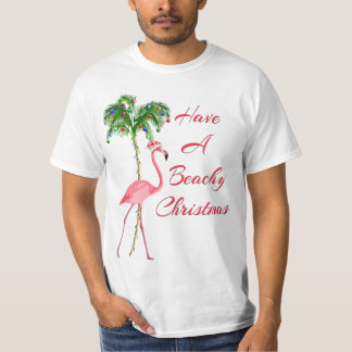 Have A Beachy Christmas Flamingo T-Shirt