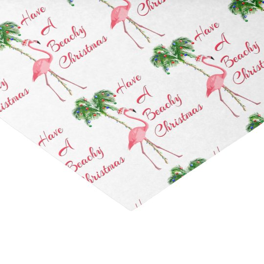 Have A Beachy Christmas Flamingo Tissue Paper
