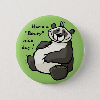 Have a beary nice day 6 cm round badge