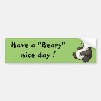 Have a beary nice day bumper sticker