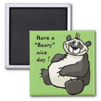 Have a beary nice day magnet