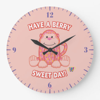 Have A Berry Sweet Day Large Clock