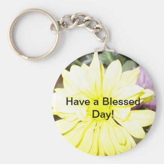 Have a Blessed Day Keychain