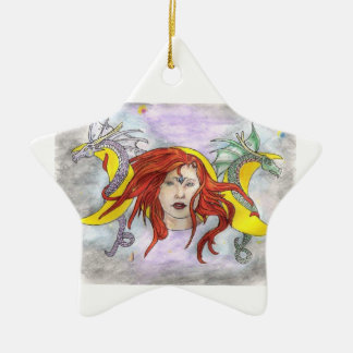 Have a Blessed Yule Ceramic Star Decoration