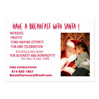 Have A Breakfast with Santa Pack Of Chubby Business Cards
