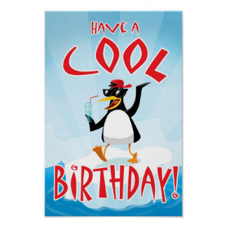 Have a Cool Birthday Poster