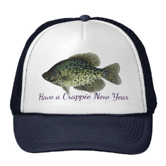 """Have a Crappie New Year"" featuring black crappie Cap"