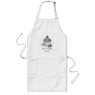 """Have a cupcake. It's OK"" Long Apron"