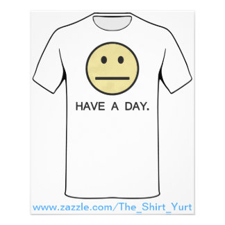 Have a Day Smiley Face 11.5 Cm X 14 Cm Flyer