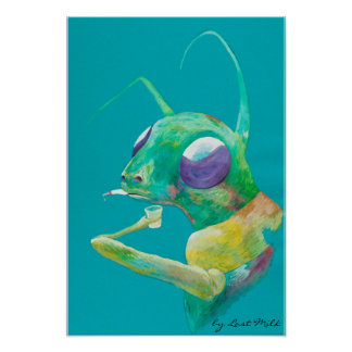 Have A drink - insects grass hop art Poster