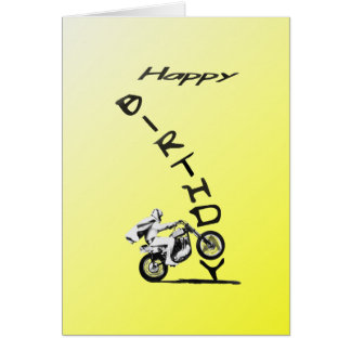 HAVE A EVEL BIRTHDAY. yellow. Greeting Card