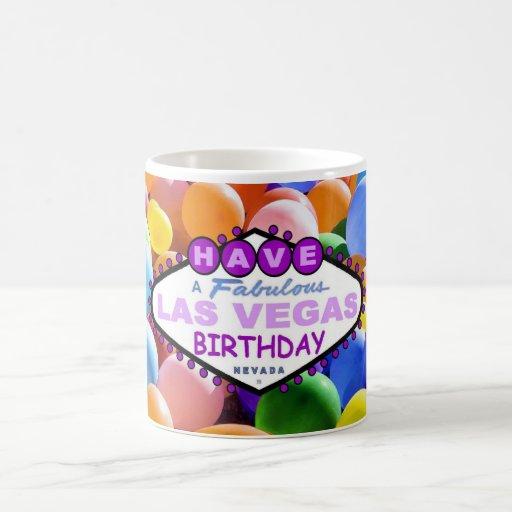 Have A Fabulous Las Vegas Birthday Balloons Mug