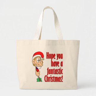Have a fantastic, funny, merry Christmas. Nerd! Jumbo Tote Bag