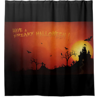 Have A Freaky Halloween Shower Curtain
