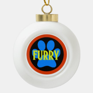 Have a furry Christmas Ceramic Ball Decoration