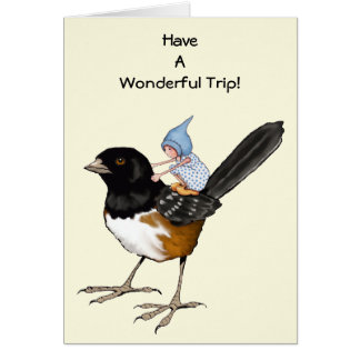 Have A Good Trip, Gnome Child on Big Bird: Flight Greeting Card