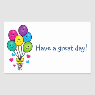 Have a Great Day Sticker with Balloons