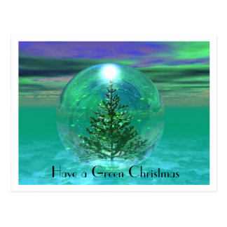 Have a Green Christmas Postcard