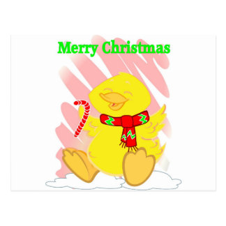 Have a Happy Duck Merry Christmas Postcard