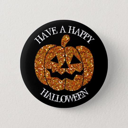 Have a Happy Halloween Pumpkin Button
