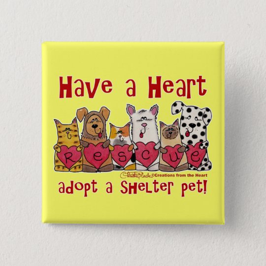 Have a Heart 15 Cm Square Badge