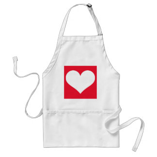 Have A Heart (Cherry Red/White) Standard Apron