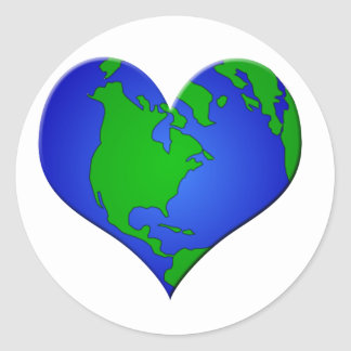 Have a HEART for Our EARTH Round Sticker