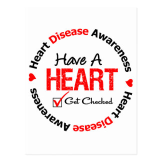 Have a Heart Get Checked Heart Disease Postcard