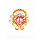 have a heart /henna sunburst postcard