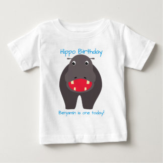 Have a hippo birthday! baby T-Shirt