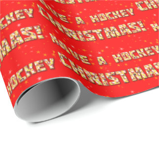 Have a Hockey Christmas Santa Claus Wrapping Paper