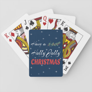 Have a Holly Jolly Christmas Playing Cards