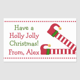 Have A Holly Jolly Christmas Rectangular Sticker